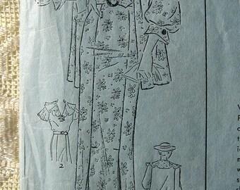 """Vintage 30s Frock Dress w Jacket. Advance 1171 Sewing Pattern. Size 16  Bust 36"""""""
