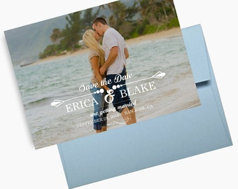 Photo Save the Dates, Beach Weddings Announcements, Single Photo Save the Dates, Postcards - DEPOSIT