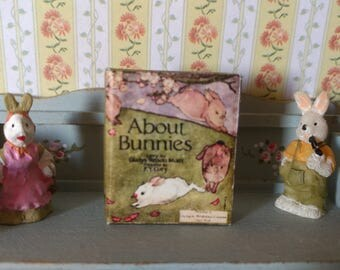 Dolls House 12th Scale  About Bunnies. Downloadable miniature book.