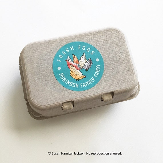 Egg carton labels food labels 12 chicken stickers coop for Design your own egg boxes