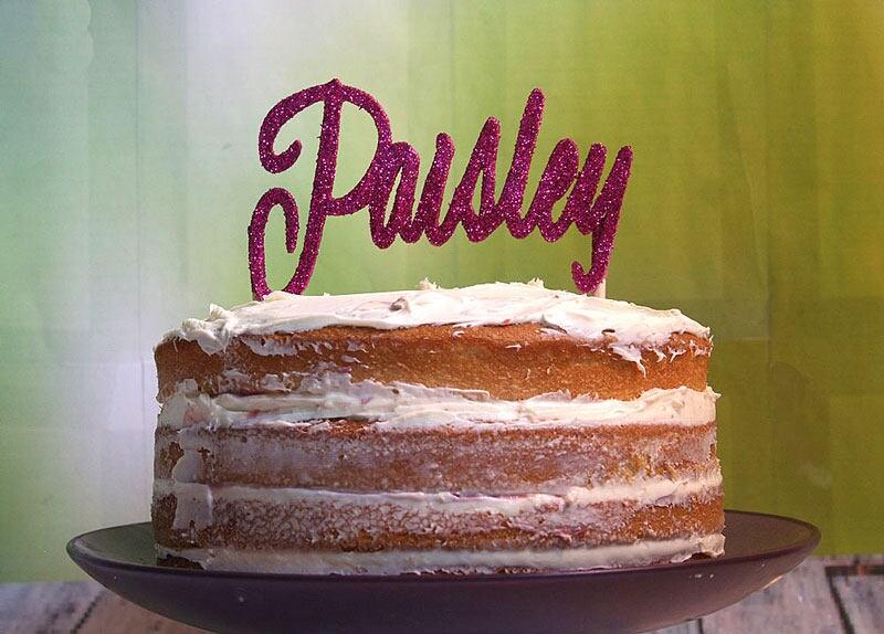 Personalized Name Cake Topper Birthday Custom Party Keepsake