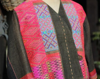 Thai Hill tribe Hand Embroiderd Jacket