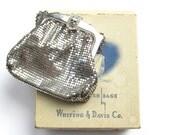 Vintage Whiting and Davis Silver Mesh Bag with Original Box Mesh Metal Hand Bag Mesh Bag Evening Bag Mesh Purse Art Deco