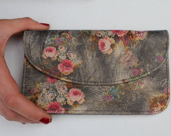German Wallet Floral 21 Leather
