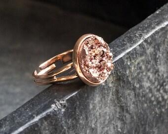 """Rose Golden Ring-""""Funkelsteine"""""""