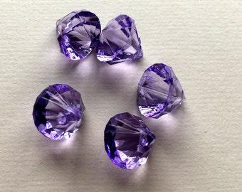 Acrylic Diamond Charms-Dark Purple (5)