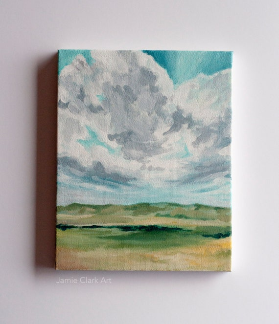 "Original 8x10 Painting ""Cedar City Sky"" FREE SHIPPING"
