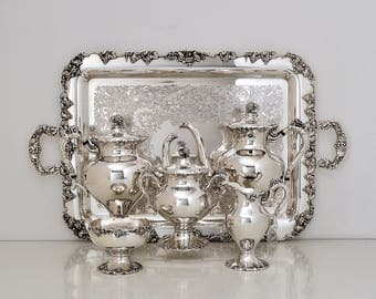 Silver Plate Coffee Tea Service Set E.G. Webster