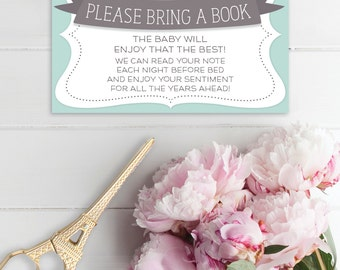 Baby Shower Book Request - Bring a Book - Books for Baby - Baby Shower Invite Printable - Instead of a Card Bring a Book - Instant Download