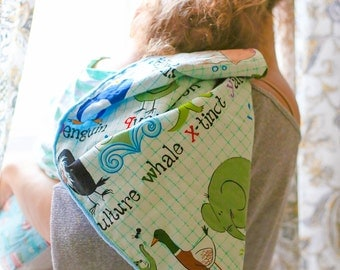 Alphabet Minky Baby Blanket - Minky Baby Blanket - Alphabet Blanket - Minky Blanket - Baby Blanket- Newborn Gift - Baby Gift - Unisex Gift