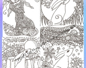 The Art Of Magical Mindfulness Adult Kids Colouring Pages Digital Download