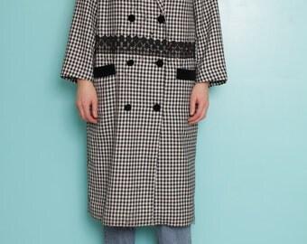 Long vichy jacket (S/M)