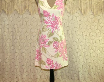 Womens Cotton Sundress Fitted Sleeveless Floral Summer Dress Small Empire V Neck Casual Midi Size 6 Dress Tommy Hilfiger Womens Clothing