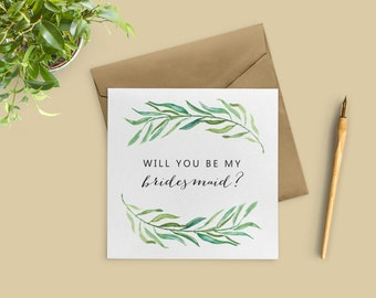 Bridesmaid Proposal Card, Will You Be My Bridesmaid Card, Bridesmaid Card, Bridal Party Cards, SKU: WYB002