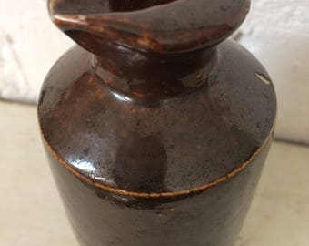 Bourne Denby Stonewear Ink Pot, Artist Studio Pot