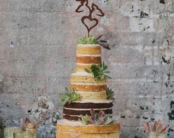 Browning Deer Wedding Cake Topper, Deer Cake Topper, Country Cake Topper, Browning Deer Heart, Cake Topper