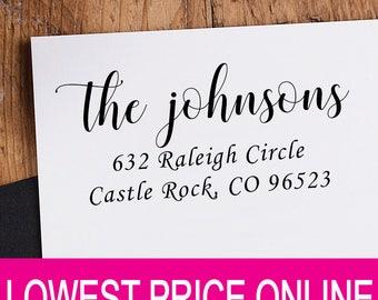 Family Name - Return Address Stamp - Personalized Custom Stamp - Self Inking Stamp - Custom Rubber Stamp - Personalized Address Stamp RE913