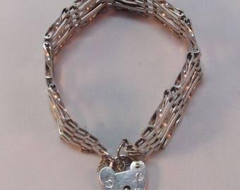 Beautiful Sterling Silver 5 Bar Gate Bracelet