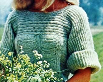 Crochet Scalloped Top Vintage Crochet Pattern Download