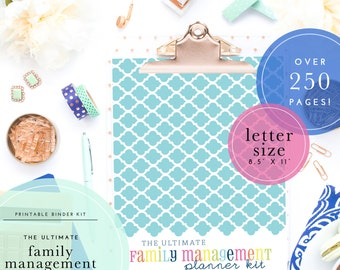The Ultimate Home, Family, & Household Management Binder Kit - Printable Pdf