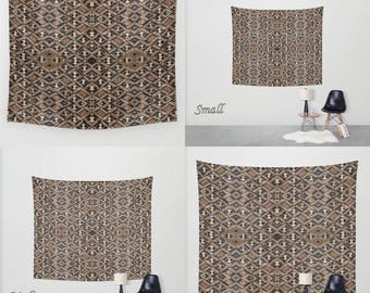 African Art - Art Tapestry Wall Tapestry Photo Tapestry/ Exclusive Kuba Cloth Design - Var #2/ Large Wall Art~Wall Hanging/ Polyester Fabric