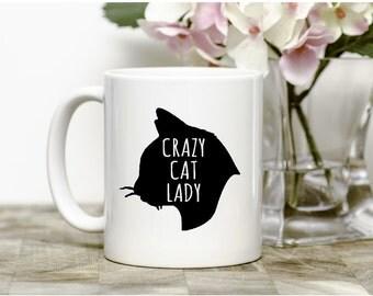 Crzay Cat Lady Mug,funny mug,gift,cat lover