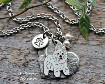 Westie Necklace, Westie Jewelry, Dog Necklace, Westie Gift, West Highland Terrier, See all five photos - read listing details