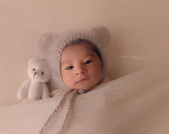 Newborn bonnet hat 16 colors / baby boy bonnet hat / photography prop newborn baby / hats for boys / newborn knitted baby hat /  newborn hat