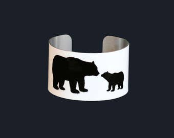 MAMA Bear - Cuff Bracelet - Add-A-Cub - Bangle - Custom - Children - Grandchildren - Baby Bear - FUN!