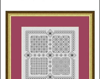 Blackwork Embroidery Chart ~ Blackwork Garden ~ PDF chart