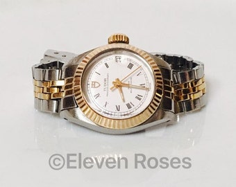 Rolex Tudor Princess Oysterdate Oyster Date Two Tone Gold Mechanical Wrist Watch