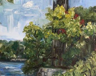 "Carillon at Stone Mountain, oil on panel, 8"" x 10"""