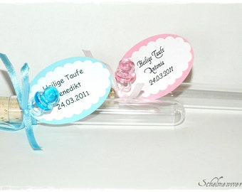 Test tubes as gifts baptism birth (5 PCs)