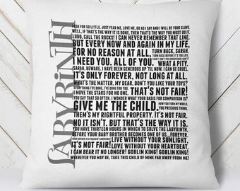 Labyrinth move quote pillow cover - movie quotes