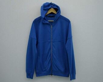 Louis Vuitton Jacket Louis Vuitton Blue Jacket Louis Vuitton Sweatshirt Made in Italy Designer Preppy Hooded Jacket Mens Size M/L