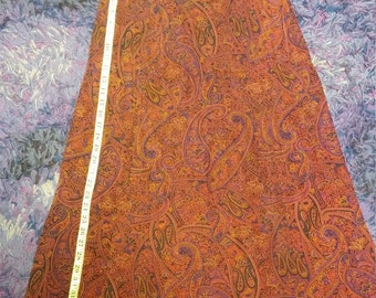 Vintage Long Skirt by Frazier Lawrence in Paisley Design 1990s Elegant Ladies A Line Skirt 36 inches.