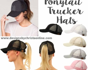 Ponytail Trucker Hats