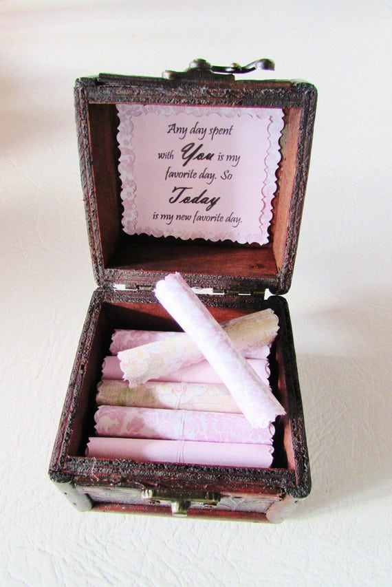Romantic Christmas Gift, Romantic Anniversary Gift, Date Night Ideas in Wood Box, Girlfriend Anniversary Gift, Wife Anniversary Gift