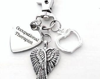 Occupational Therapist Zipper Pull Key Chain Gift Present