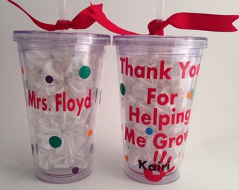 Thank You Tumbler for a teacher,babysitter, daycare provider, camp counselor, mentor