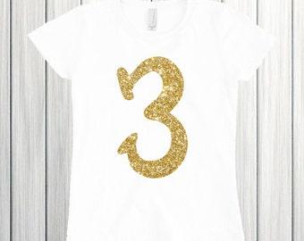 Three year old birthday shirt Birthday girl shirt 3rd birthday outfit Three birthday Third birthday girl 3 birthday Three birthday shirt