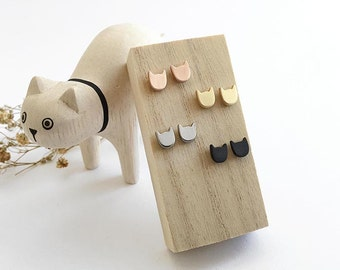 Cat power earring studs - Nickel-free and lead-free