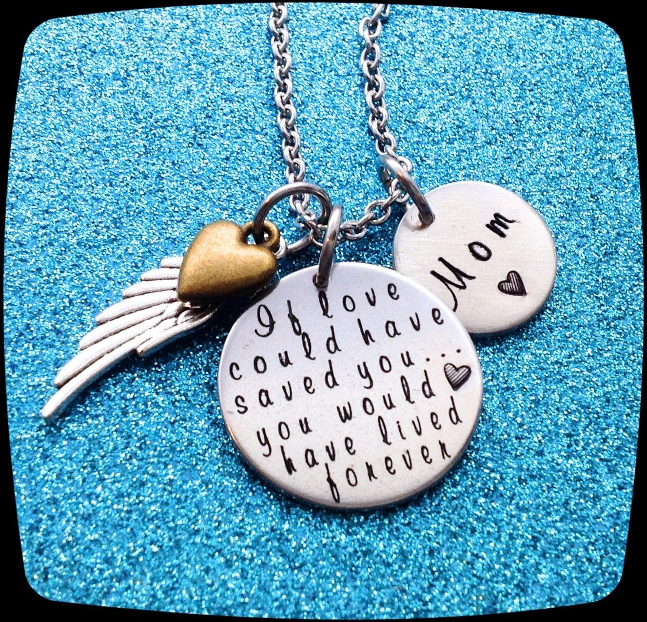 Memorial Jewelry Memorial Necklace Custom Memorial Jewelry