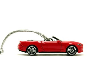 2015 Ford Mustang GT Convertible Hot Wheels Ornament - Red Ford Mustang GT