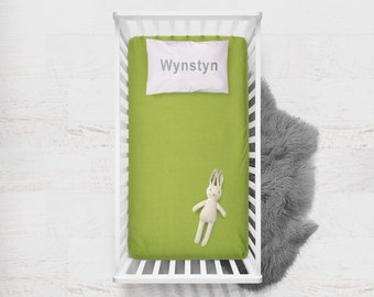Fitted Crib Sheet Chartreuse. Flat Crib Sheet. Crib Sheet. Toddler Sheet. Baby Sheet. Solid Green Fitted Sheet. Crib Bedding.