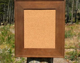 wood framed cork board