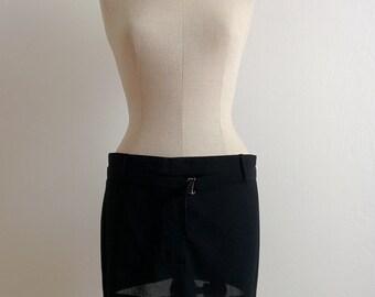 Ann Demeulemeester black wool mini skirt