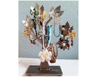 Jewelry Tree – tree jewelry organizer - Earring trees – metal jewelry holders – metal maple leaf ring box tree – earring holder tree storage