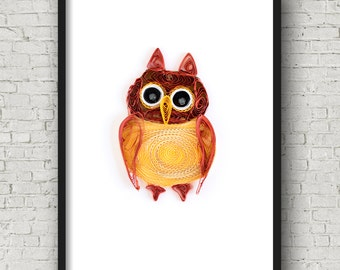 owl art - owl artwork - colorful owl art - owl prints - owl wall art - cute owl art - owl decor - owl nursery decor - owl theme nursery