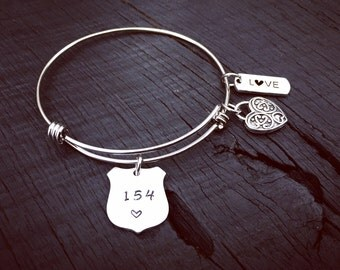 Police Officer's Badge Bracelet | Law Enforcement Bracelet | Police Officer's Wife Jewelry Gift | Law Enforcement Gift | Police Mom Gift